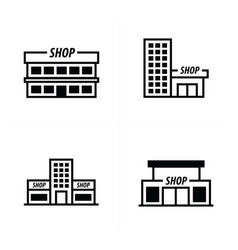 design supermarket icon vector image