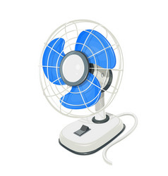 Desk air electric fan vector