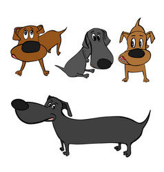 Dog character image vector