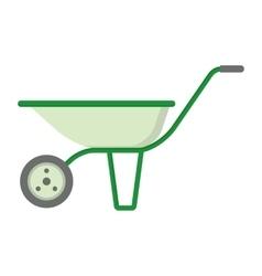 farmer garden cart vector image vector image