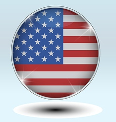 Flag USA American Culture Star Form Striped Countr vector image vector image