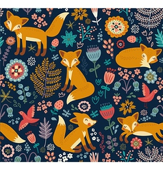 Foxy pattern dark vector