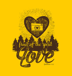 Fruit of the spirit love vector