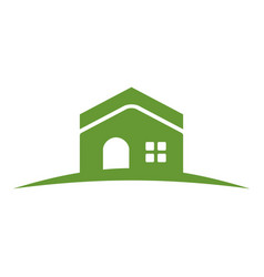 green hill house vector image