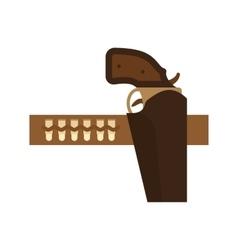Gun belt vector