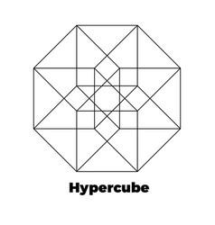 hypercube icon vector image vector image