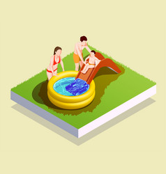 Inflatable pool family composition vector