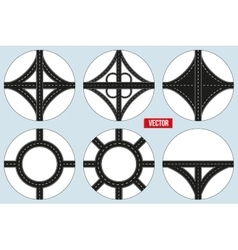 Main road junction vector image