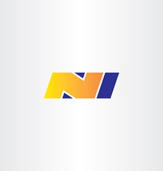 n letter yellow blue logo sign icon symbol vector image vector image