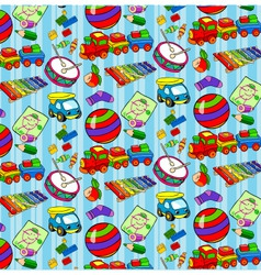 Pattern of childrens toys for boys vector