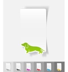 Realistic design element german badger-dog vector