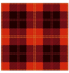 Red tartan cloth design vector