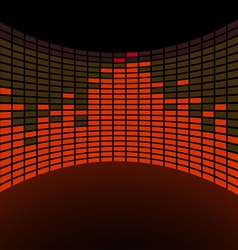 Round graphic equalizer vector image