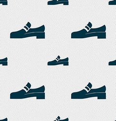 Shoe icon sign seamless pattern with geometric vector