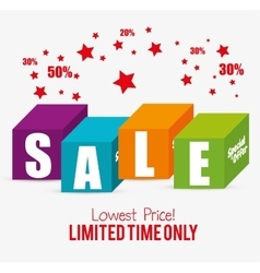 Special offer sale lowest price color blocks star vector