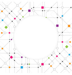 technical network abstract background vector image vector image