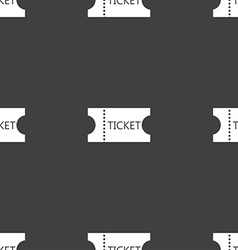 ticket icon sign Seamless pattern on a gray vector image vector image