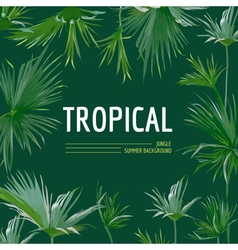 Tropical palm leaves background graphic t-shirt vector