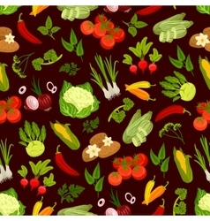 Vegetables decorative seamless pattern vector
