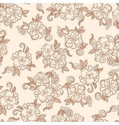 Vintage decorative floral seamless texture vector