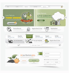 Web site navigation menu pack vector