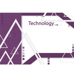 Modern geometrical abstract technology purple vector