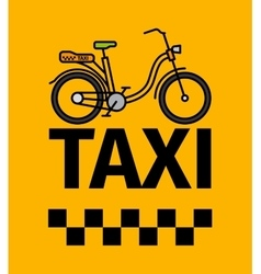 Bicycle taxi transport poster vector