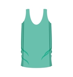 Man undershirt green with vertical lines vector