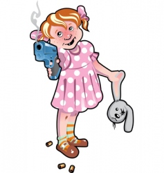 child with the weapon vector image