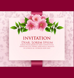 wedding invitation card invitation vector image