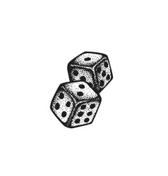 Hand drawn dice vector