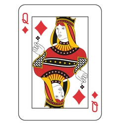 Queen of diamonds vector
