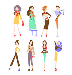 Fashion women collection vector