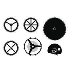 Clock mechanism assembly vector