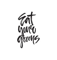 food handdrawn lettering vector image