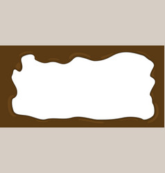 Melted chocolate frame vector
