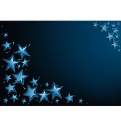 Blue Christmas Stars vector image