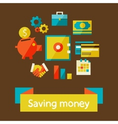 saving money vector image