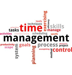 word cloud time management vector image