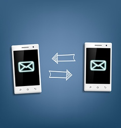 Transmission of messages between phones vector