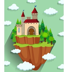 Castle building on the mountain vector