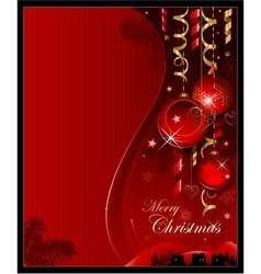 Red christmas decoration background vector