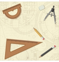Blueprint with equipment vector
