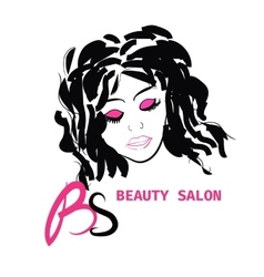Logo hairstyle card for beauty salon in vector