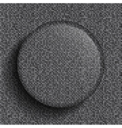 Glass circle on silver sequins background vector
