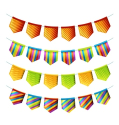 Bright bunting flags vector image