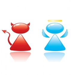 angel and devil icons vector image