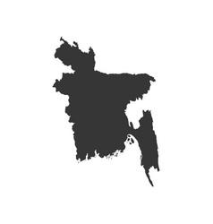 Bangladesh map silhouette vector