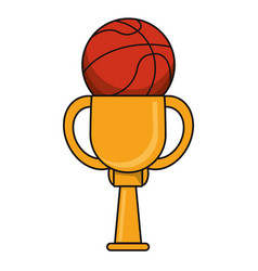 Basketball trophy sport golden image vector