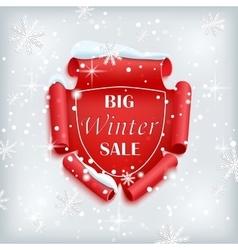 Big winter sale poster vector